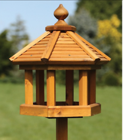 Large wooden bird tables