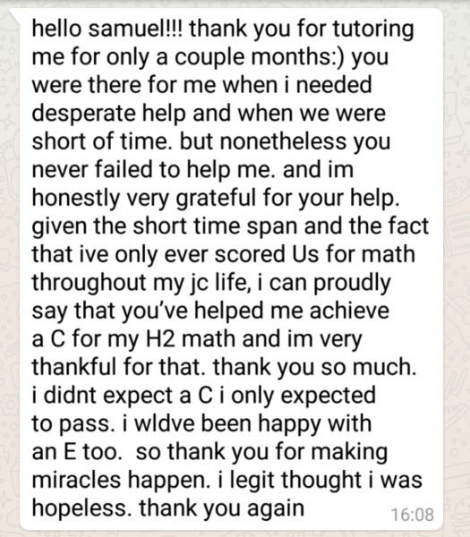 Math and Science Tuition By Experienced Top NUS Graduate