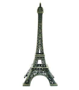 Paris-France-Metal-Eiffel-Tower-Souvenir-Statue-Replica-Figure-18cm-Decoration