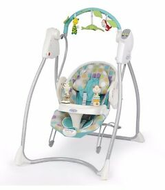Graco 2 in 1 baby bouncer and swing.