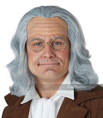Franklin Kostüme (California Kostüme Benjamin Franklin Erwachsene Mens Halloween Kostüm Perücke)