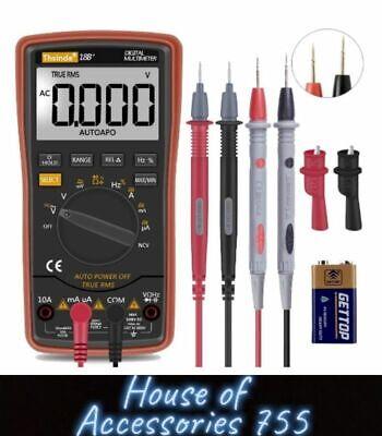 Fluke Digital Multimeter Voltmeter Amp Ohm Multi Volt Tester Lead Ac Dcdiode
