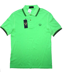 Fred Perry Polo shirt Acid Green NEW WITH TAGS Men's S or XXL