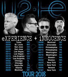 SPECTACLE U2, 6 JUIN, 2 BILLETS SECTION 107 ROUGE (1 PAIRE)