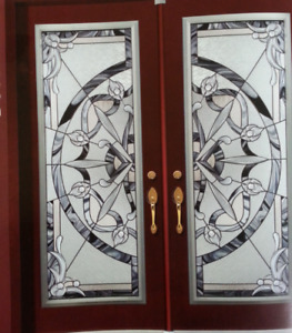 stained glass inserts wrought iron glass inserts decorative door