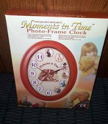 Moments in Time Photo Frame Clock with Quartz Movement