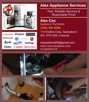 $60 Repair washers,dryers,refrigerators,dishwashers, stoves, etc