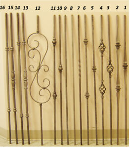 Wrought Iron Pickets, Balusters