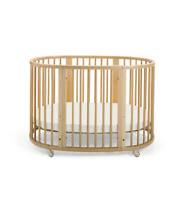 Modern solid wooden Stokke crib and bed for children (babies, to
