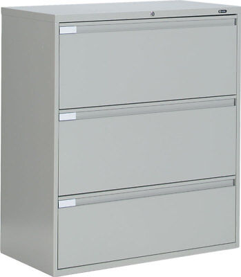 Metal 3 Drawer Lateral File Cabinet Office Furniture - Available In 3 Colors
