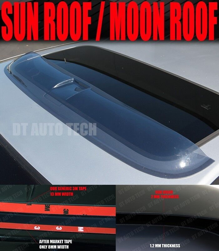 "Power Sunroof: 38.5"" Universal Deflector Sunroof Sun Moon Roof Visor Vent"