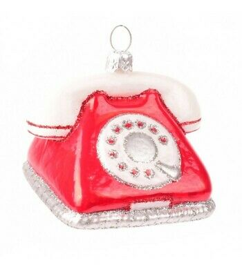 Novelty Handmade Telephone Phone Christmas Ornament Bauble Tree Decoratons  ()