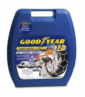247 77936 CATENE AUTO DA NEVE GOODYEAR G12 GOMMA 75-17