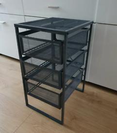 Ikea 3 Drawers Storage Unit- Dark Grey