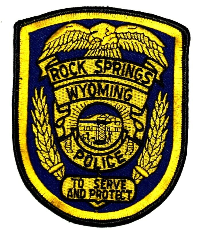 ROCK SPRINGS WYOMING WY Sheriff Police Patch EAGLE SEAL MOUNTAIN ~
