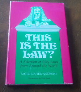 This Is The Law? Nigel Napier-Andrews, 1976 Kitchener / Waterloo Kitchener Area image 1