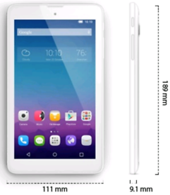 NEW Alcatel Onetouch Pixi 3 (7) White Tablet