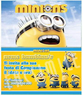 Biglietti - Inviti Compleanno personalizzati MINIONS