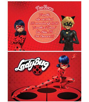 Biglietti - Inviti Compleanno personalizzati LadyBug