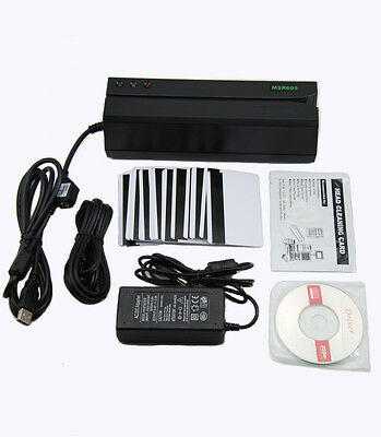 Magnetic Card Reader Writer Encoder Credit Debit Pvc Id Mag Stripe Swipe Msr605