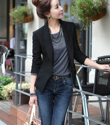 USA Fashion Women's Ladies Suit Coat Business Blazer Long Sleeve Jacket Outwear