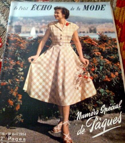 *VTG 1954s PARIS FASHION SEWING PATTERN MAGAZINE PETIT ECHO de la MODE Catalog