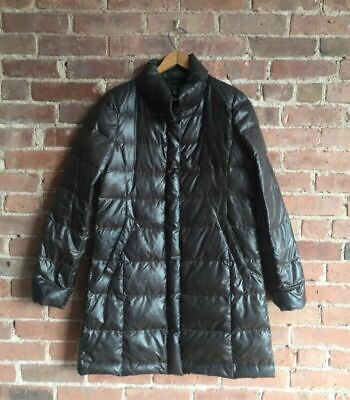 Jil Sander +J For Uniqlo, Ladies Down Coat, Nice Brown Patina, Sz Medium