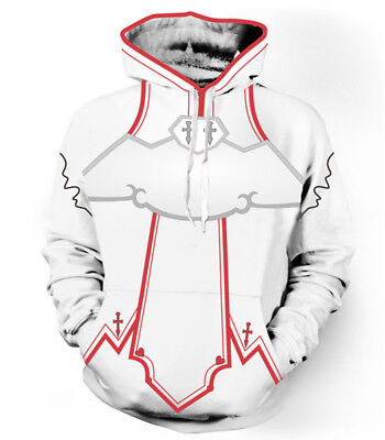 3D Design, Anime Sword Art Online Cosplay Men's/Boy's Hooded Sweatshirt - Design Costumes Online