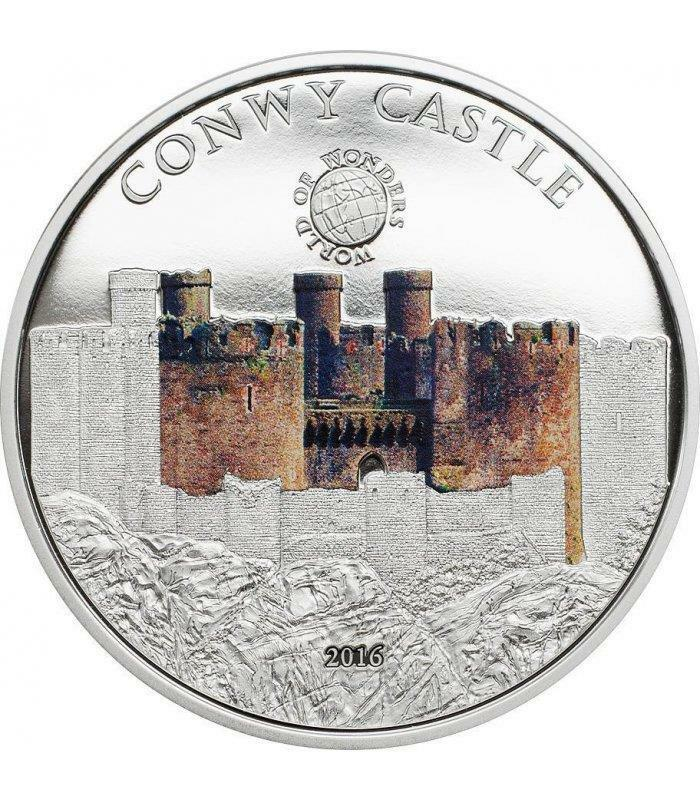 Palau 2016 $5 world of wonders convy castle 20 g silver coin