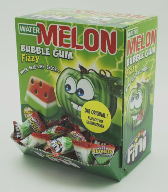 200 Fini Kaugummi Boom Wassermelonen gefüllte Melonen Melonenkaugummi