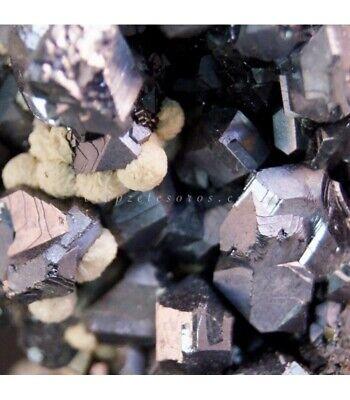 Blenda, Pirita y Calcita nodular en paragénesis con Galena cristalizada de Madan
