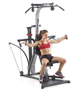 BowFleX Xceed  with Ab Harness gym weights exercise