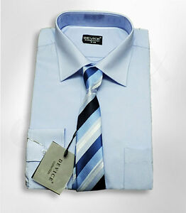 PAGE-BOYS-BLUE-SMART-SHIRT-AND-TIE-SET-WEDDING-PROM-SUIT-SHIRT-AGE-6M-TO-15-YRS