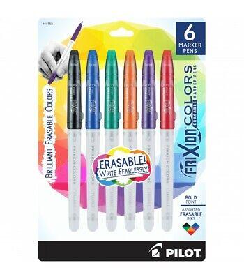 Pilot Frixion Colors Erasable Marker Pen Bold Point 2.5mm Asst Colors 6box