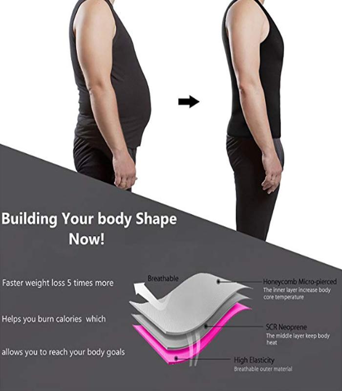 Men's Weight Workout Neoprene Sauna Suit Sweat Top