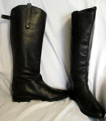 9a9387215 SAM EDELMAN WOMAN 11 M BLACK LEATHER PENNY EQUESTRIAN RIDING TALL KNEE ZIP  BOOT