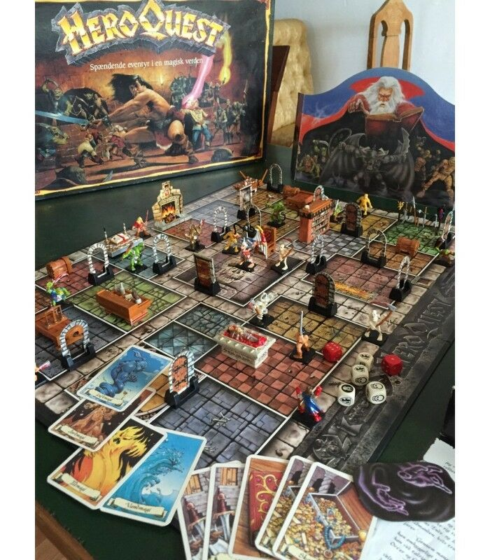 Hero Quest - Parti di Ricambio Accessori Carte Minis - Spare Components Cards MB