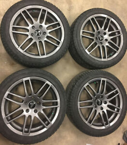 """17"""" 5X112 RS4 Style Audi Rims with 225/45/17 Winter Tires"""
