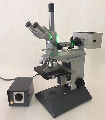 Reichert Metavar Ik Trinocular Microscope W Illuminator 5 Objectives - 6 Turret