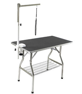 "Table de toilettage transportable 24"" X 44"" avec support et cour"
