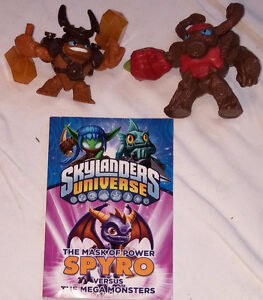 Qty 2 Skylanders Toys and 1 Universe Book London Ontario image 1