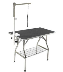 "Table de toilettage transportable 24"" X 44"" avec support courroi"