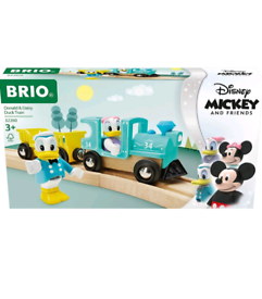 BRIO Disney Donald & Daisy Duck Train for Kids Age 3 Years Up - Compat