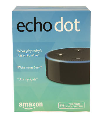 Amazon Echo Dot 2nd Generation w/ Alexa Voice  Media Streaming - Black New 2016