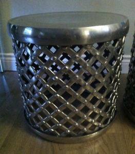 Steel drums for seating/end tables