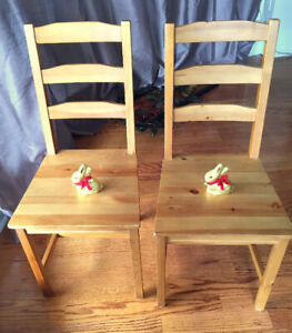 2 IKEA JOKKMOKK solid wood (pine) chairs