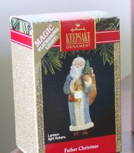 Father Christmas with Working Lamp (1991) by Hallmark