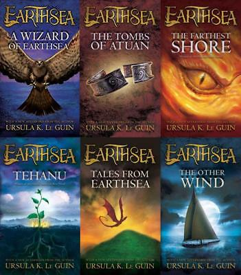 Ursula K LeGuin EARTHSEA CYCLE Fantasy Series MASS MARKET PAPERBACK Set 1-6