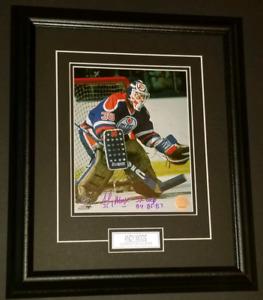 Andy Moog Autographed Framed Edmonton Oilers Photo