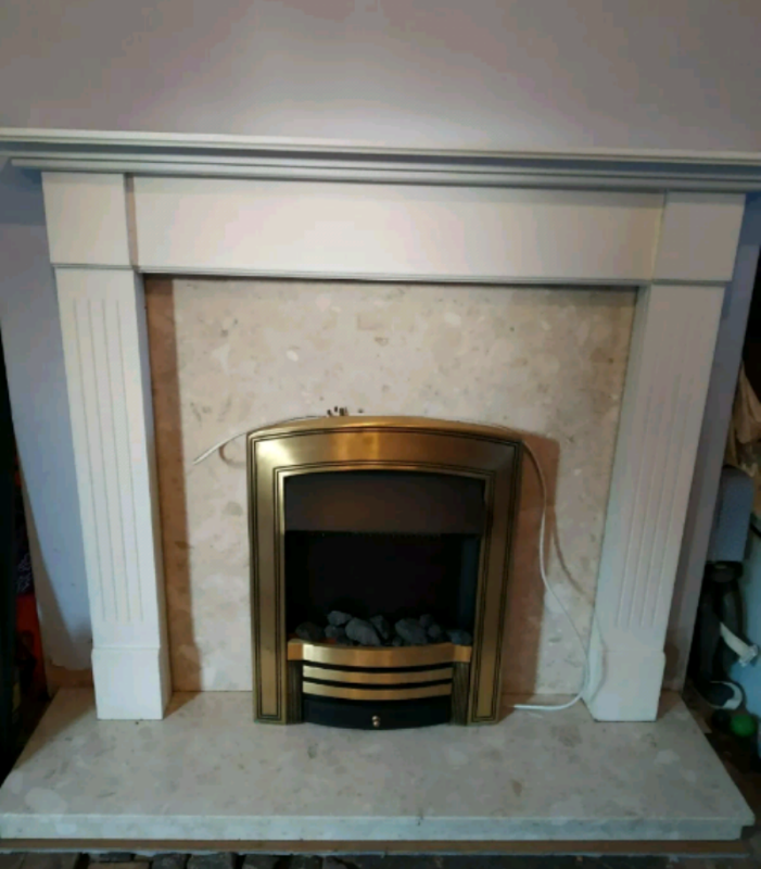 Fine Marble Fireplace With Electric Fire In Coventry West Midlands Gumtree Interior Design Ideas Tzicisoteloinfo